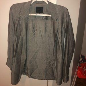 Talula Aritzia Dark Gray Grey Blazer Jacket